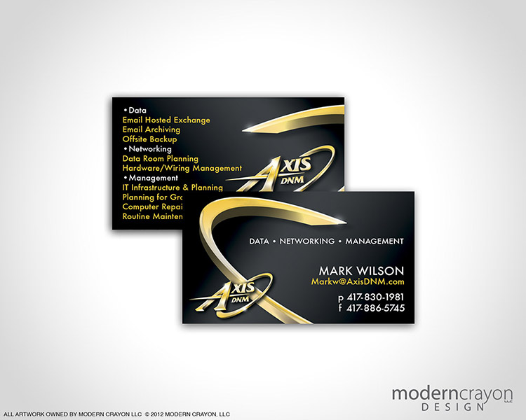 Axis dnm mark wilson business cards modern crayon for Business cards springfield mo