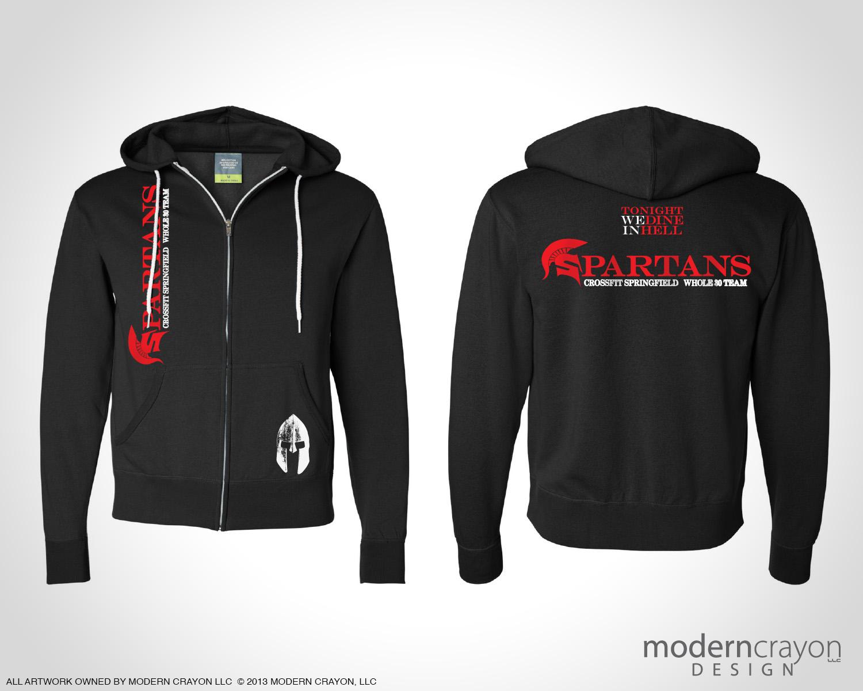 Spartans crossfit springfield team apparel modern crayon for Custom t shirts springfield mo