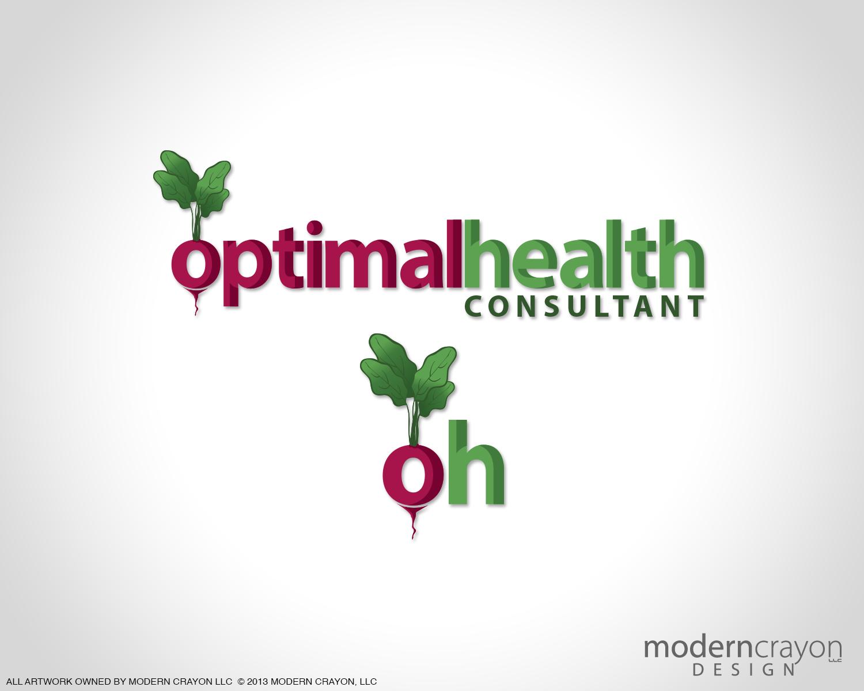 Optimal health consultant branding logo design modern for Design consultant