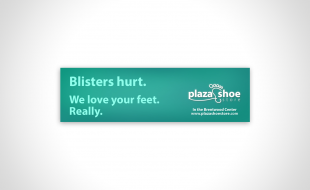 Plaza Shoe Store Billboard