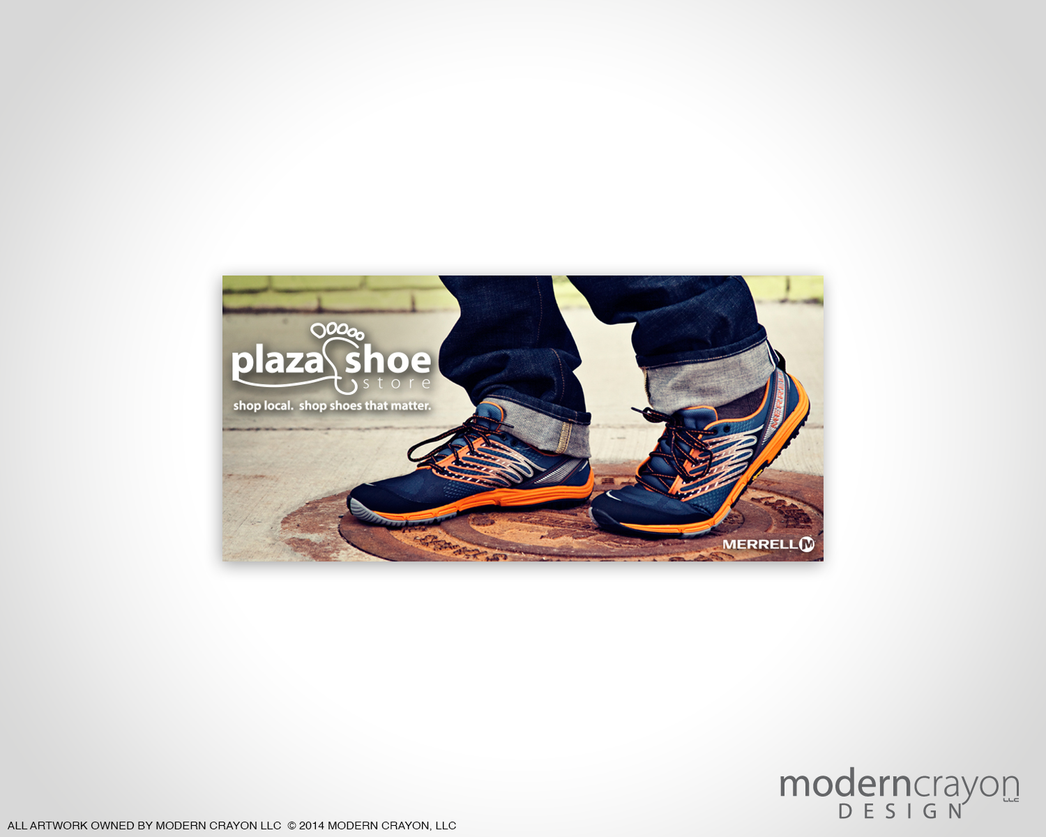 Plaza shoe store merrell digital billboard for A valeria boss salon