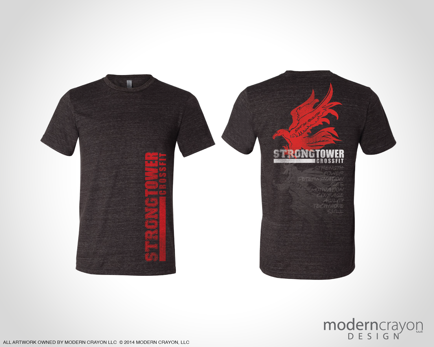 Strong tower crossfit apparel for Shirt printing springfield mo