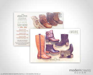 Plaza Shoe Store 2014 Fall Postcard