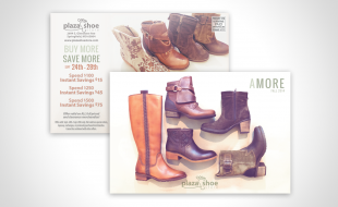 Plaza Shoe Store 2014 Fall Postcard