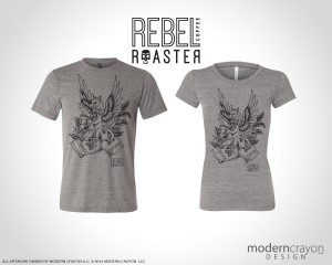 Rebel Roaster Apparel and Logo rebrand